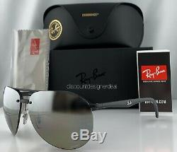 Ray-ban Aviator Rb4293ch Lunettes De Soleil 601s5j Matte Silver Mirror Noir Polarized