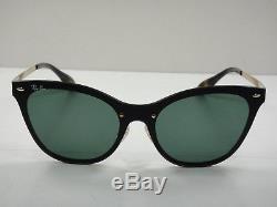 Ray-ban Femme Lunettes De Soleil Blaze Cat Eye Rb3580n 043/71 Or / Vert Lentille 43mm