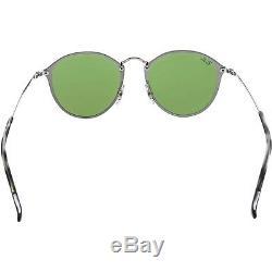 Ray-ban Polarized Blaze Ronde Pour Femmes Rb3574n-003 / 30-59 Silver Sunglasses