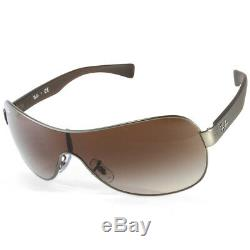 Ray-ban Rb3471 029/13 Youngster Gunmetal / Brown Gradient Lunettes De Soleil Unisexe Bouclier