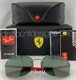 Ray-ban Rb3617m Ferrari Lunettes De Soleil F00171 Gunmetal Frame Classic Green G-15 Lens