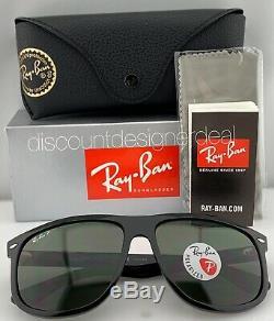 Ray-ban Rb4147 Lunettes De Soleil 601/58 Noir Brillant Vert Classique Polarized 60mm