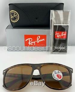 Ray-ban Rb4147 Lunettes De Soleil 710/57 Brown Tortoise Brown Polarized B-15 Objectif 60mm