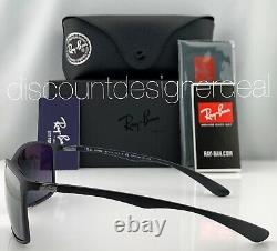 Ray-ban Rb4179 Lunettes De Soleil 601s82 Matte Black Silver Mirror Polarized Lens 62mm