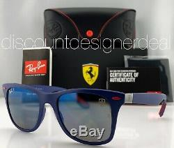 Ray-ban Rb4195m Lunettes De Soleil Ferrari F604 / H0 Matte Bleu Bleu Miroir Polarized