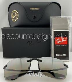 Ray-ban Rb4255 Lunettes De Soleil 6015j Frameless Argent Mirror Polarized Chromance 60mm