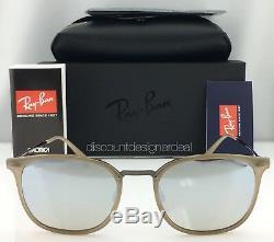 Ray-ban Rb4286 New Literay Lunettes De Soleil Modèle 6166 / B8 Beige 55mm Argent Miroir