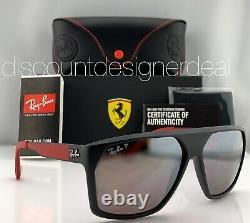 Ray-ban Rb4309m Lunettes De Soleil Ferrari F602 / H2 Matte Silver Mirror Noir Polarized