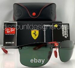 Ray-ban Rb4322m Ferrari Lunettes De Soleil Sans Cadre F601/71 Black Classic Green Lens 63