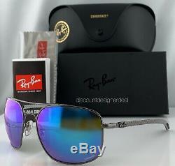 Ray-ban Rb8322ch 004 / A1 Lunettes De Soleil Bleu Miroir Polarisants Chromance Carbon 62mm
