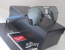 Ray-ban Rb 8307 006/40 Lunettes De Soleil Noir Mat Bleu Authentiques Nouveau! Fibre De Carbone