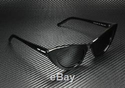 Saint Laurent Ysl 213 001 Lily Cat Eye Noir Brillant Gris 52 MM Lunettes De Soleil Femme