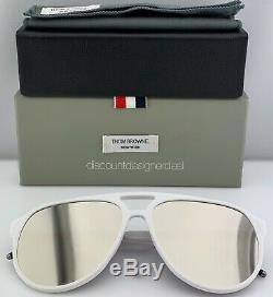 Thom Browne Lunettes De Soleil Aviateur Cadre Or Blanc Flash Tbs408-63-03 1 300 Lmt