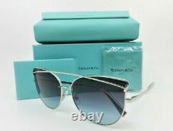 Tiffany & Co. Tf3064 6001/9s Cat Eye Silver Blue Gradient Lunettes De Soleil 61mm Withbox