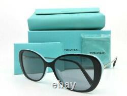 Tiffany & Co. Tf 4156-f 8055/1 Lunettes De Soleil Noires Et Bleues En Métal Argenté Avecbox