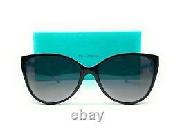 Tiffany Tf4089b 8055t3 Noir Gris Gradient Lunettes De Soleil Pour Femmes Polarisé 58 MM