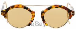 Tom Ford Lunettes De Soleil Ovales Tf631 Farrah-02 55e Tokyo La Havane 49mm Ft0631