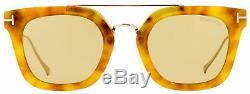 Tom Ford Lunettes De Soleil Rectangulaires Tf541 Alex-02 53e Blonde Havana 51mm Ft0541