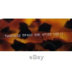 Tom Ford Tatiana 02 Lunettes De Soleil Rondes Tf603 Tf 603 55e Havana Marron Femme