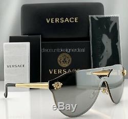 Versace Glam Medusa Ve2161 Lunettes De Soleil Cadre Doré Silver Mirror Lens 1002 / 6g