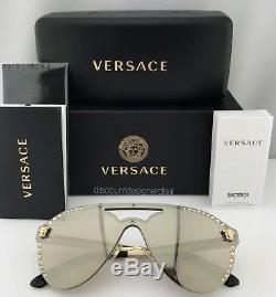 Versace Glam Medusa Ve2161b Lunettes De Soleil Pale Gold Gold Mirror 1252 / 5a