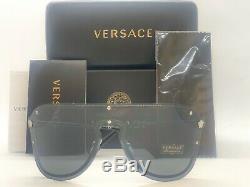 Versace Medusa Madness Lunettes De Soleil Ve 2180 1000 87 Argent Noir Gris 44mm 100087