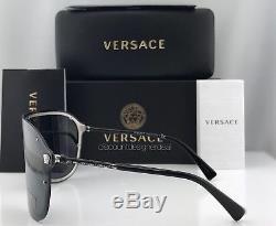 Versace Medusa Madness Ve2180 Lunettes De Soleil Argent Noir Gris 1000/87
