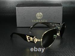 Versace Ve2150q 100271 Lunettes De Soleil Gold Grey Green Lens Homme Pilote 62mm