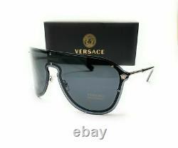 Versace Ve2180 100087 Lunettes De Soleil Silver Women's Pilot Metal 125