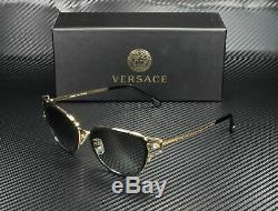 Versace Ve2203 143811 Or Noir Gris Dégradé 53 MM Lunettes De Soleil Femme