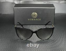 Versace Ve4260 Gb1 11 Lunettes De Soleil Noires Gris Gradient 58 MM Femmes
