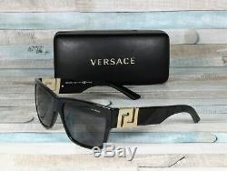 Versace Ve4296-gb1 / 81 Noir Gris Polarisants 59 MM Lunettes De Soleil Pour Hommes