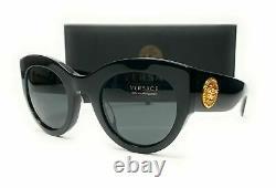 Versace Ve4353a Gb1 87 Lunettes De Soleil Noires Grises Pour Femmes 51mm