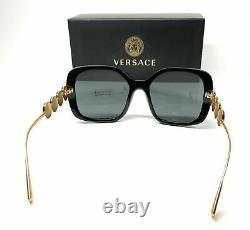 Versace Ve4375 Gb1 87 Lunettes De Soleil Femme À Lentilles Gris Noir 53mm